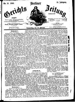 Berliner Gerichts-Zeitung vom 13.02.1890