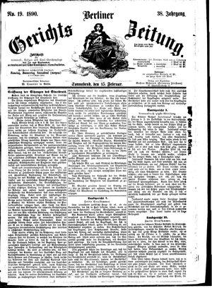 Berliner Gerichts-Zeitung vom 15.02.1890