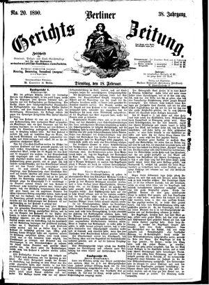 Berliner Gerichts-Zeitung vom 18.02.1890
