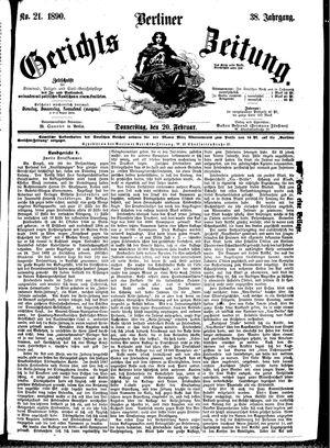 Berliner Gerichts-Zeitung vom 20.02.1890