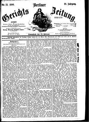 Berliner Gerichts-Zeitung vom 22.02.1890
