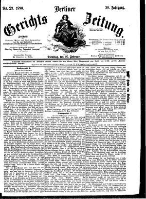 Berliner Gerichts-Zeitung vom 25.02.1890