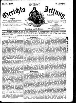 Berliner Gerichts-Zeitung vom 27.02.1890