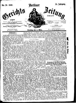 Berliner Gerichts-Zeitung vom 04.03.1890