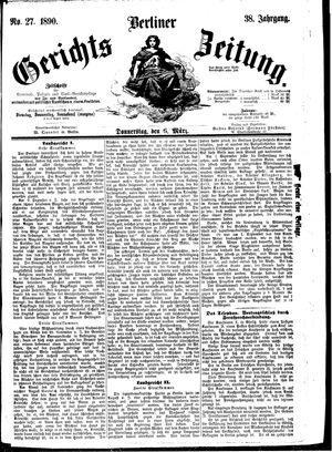 Berliner Gerichts-Zeitung vom 06.03.1890