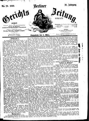 Berliner Gerichts-Zeitung vom 08.03.1890