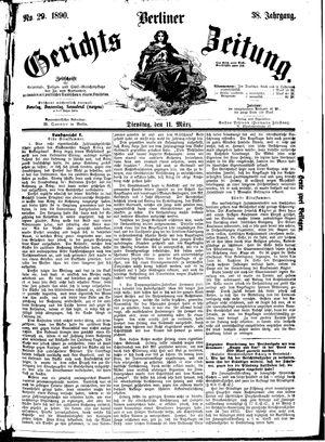Berliner Gerichts-Zeitung vom 11.03.1890