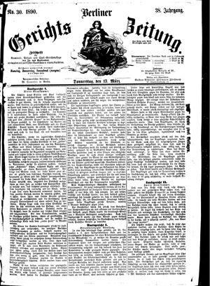 Berliner Gerichts-Zeitung vom 13.03.1890