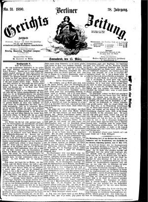 Berliner Gerichts-Zeitung vom 15.03.1890