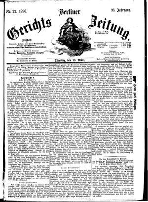 Berliner Gerichts-Zeitung vom 18.03.1890