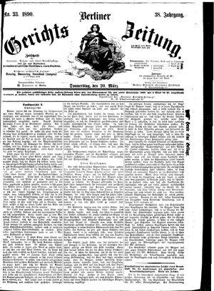 Berliner Gerichts-Zeitung vom 20.03.1890