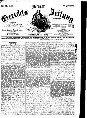 Berliner Gerichts-Zeitung vom 22.03.1890