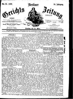 Berliner Gerichts-Zeitung vom 25.03.1890