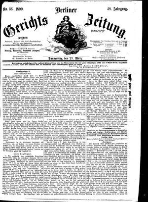 Berliner Gerichts-Zeitung vom 27.03.1890