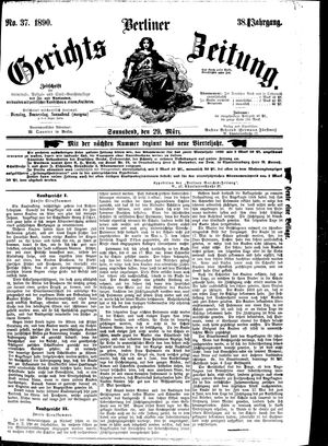 Berliner Gerichts-Zeitung on Mar 29, 1890