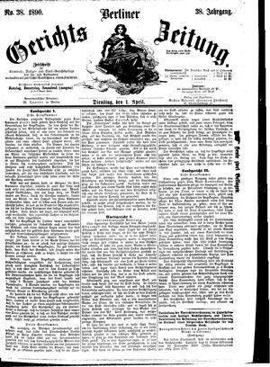 Berliner Gerichts-Zeitung vom 01.04.1890