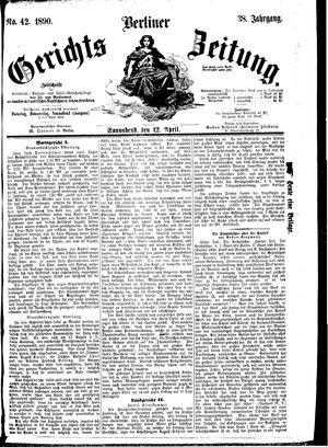 Berliner Gerichts-Zeitung vom 12.04.1890