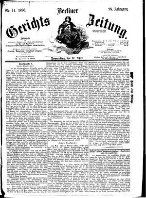 Berliner Gerichts-Zeitung vom 17.04.1890