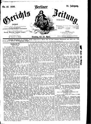 Berliner Gerichts-Zeitung vom 22.04.1890