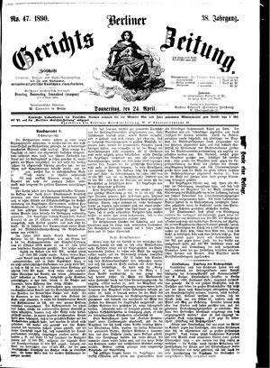 Berliner Gerichts-Zeitung vom 24.04.1890