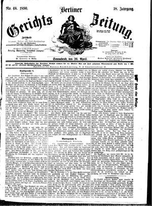 Berliner Gerichts-Zeitung vom 26.04.1890