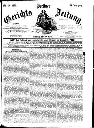 Berliner Gerichts-Zeitung vom 29.04.1890