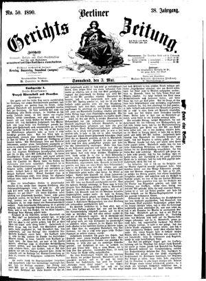 Berliner Gerichts-Zeitung vom 03.05.1890