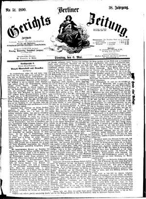 Berliner Gerichts-Zeitung vom 06.05.1890