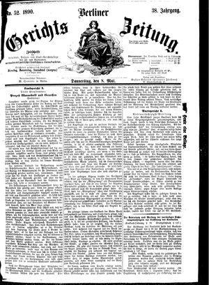 Berliner Gerichts-Zeitung vom 08.05.1890