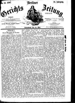 Berliner Gerichts-Zeitung vom 10.05.1890