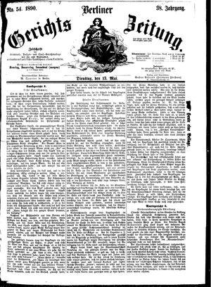 Berliner Gerichts-Zeitung vom 13.05.1890