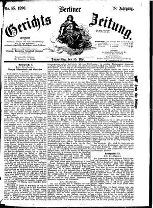 Berliner Gerichts-Zeitung vom 15.05.1890