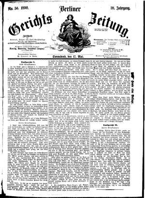 Berliner Gerichts-Zeitung vom 17.05.1890