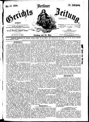 Berliner Gerichts-Zeitung vom 20.05.1890
