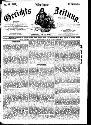 Berliner Gerichts-Zeitung vom 22.05.1890