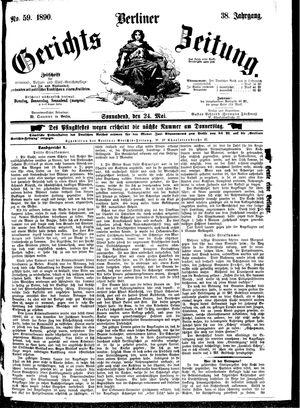 Berliner Gerichts-Zeitung vom 24.05.1890
