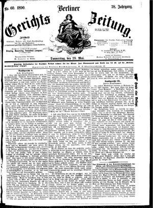 Berliner Gerichts-Zeitung vom 29.05.1890