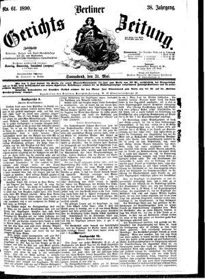 Berliner Gerichts-Zeitung vom 31.05.1890