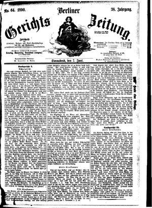 Berliner Gerichts-Zeitung vom 07.06.1890