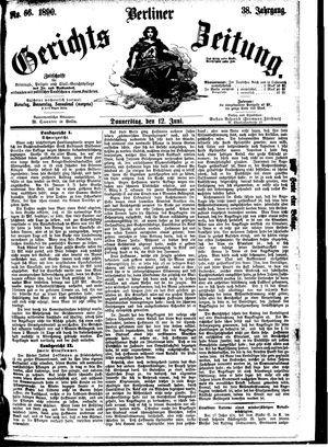 Berliner Gerichts-Zeitung vom 12.06.1890