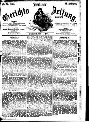 Berliner Gerichts-Zeitung vom 14.06.1890