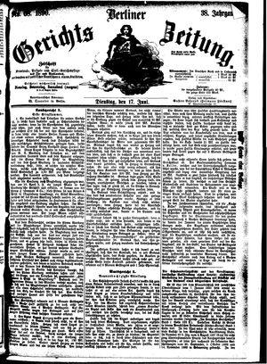 Berliner Gerichts-Zeitung vom 17.06.1890