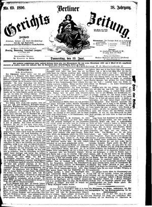 Berliner Gerichts-Zeitung vom 19.06.1890