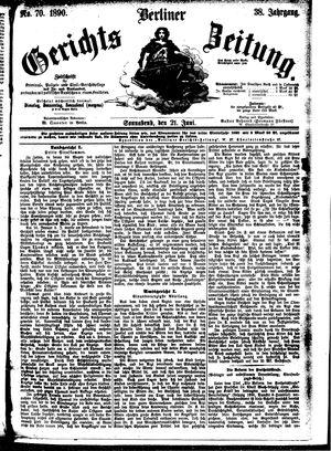 Berliner Gerichts-Zeitung vom 21.06.1890
