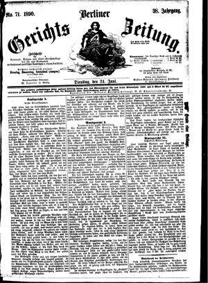 Berliner Gerichts-Zeitung vom 24.06.1890