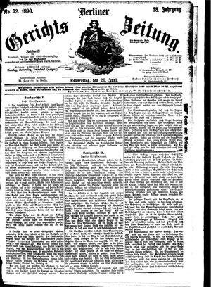 Berliner Gerichts-Zeitung vom 26.06.1890