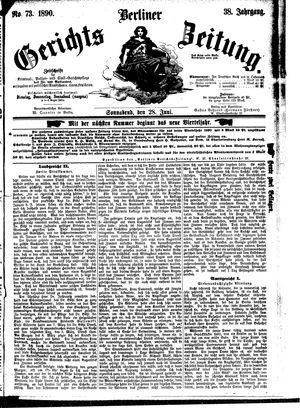 Berliner Gerichts-Zeitung vom 28.06.1890