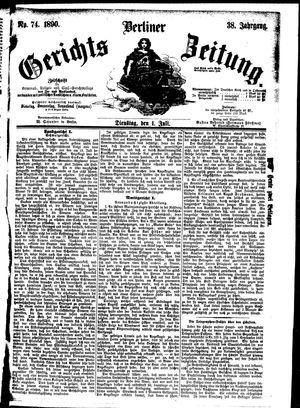 Berliner Gerichts-Zeitung vom 01.07.1890