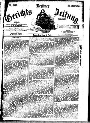Berliner Gerichts-Zeitung vom 03.07.1890