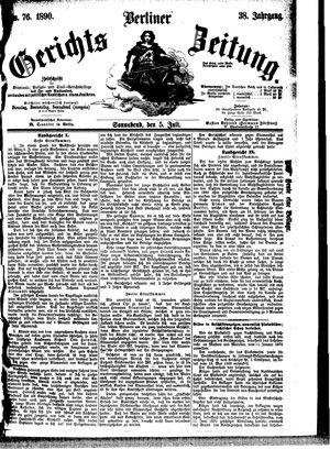 Berliner Gerichts-Zeitung vom 05.07.1890